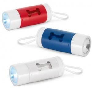 Chaveiro kit higiene para cachorro com lanterna led