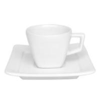 Conjunto chá xícara e pires design quadrado