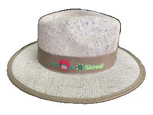 Chapéu de juta com forro