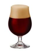 Taça de vidro para cerveja bock 380ml