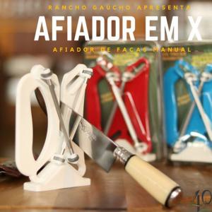 AFIADOR DE FACAS TIPO CHAIRA EM X - PROFISSIONAL