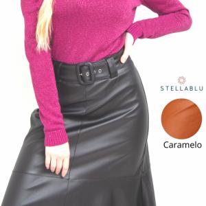 SAIA C/ CINTO DE COURINO C/ ELASTANO (1170) STELLA BLU