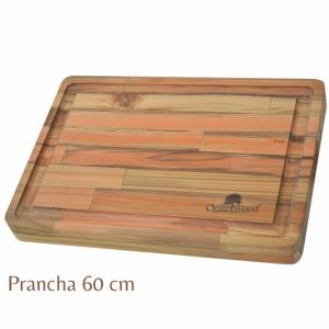 TÁBUA-PRANCHA DE MADEIRA TEKA 60X48X3,8 (7104) - OESTE WOOD
