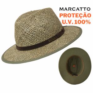 Chapéu Outback de Palha de Algas Proteção UV (15953) Marcatto