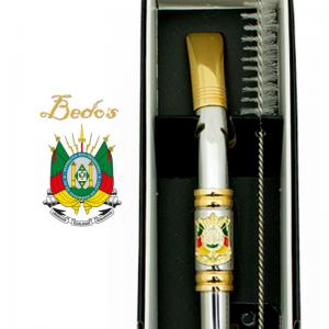 BOMBA INOX CHATA BANHADA OURO c/ ROSCA BRASÃO RS (M512S/G612S) BEDOS