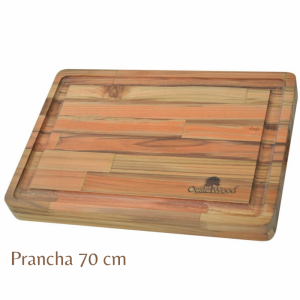 TÁBUA-PRANCHA GRANDE DE MADEIRA TEKA 70X56X3,6 (7103) OESTE WOOD