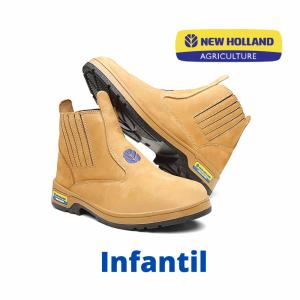 BOTINA EM COURO NOBUCK INFANTIL (Ref. ENH 2201) NEW HOLLAND