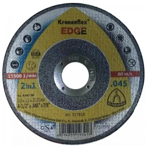 Disco de Corte Kronenflex Ø115x1,2x22,23 mm - Klingspor - Edge Special (317818)