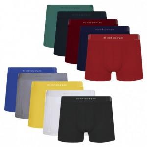 Cueca Boxer Selene Sem Costura Kit com 8