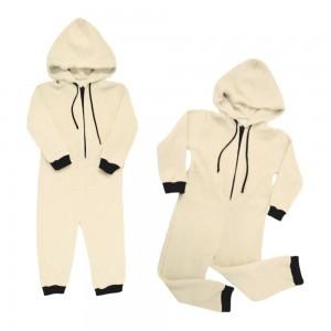Pijama Macacão Em Pelúcia Infantil Com Touca - 80% Algodão