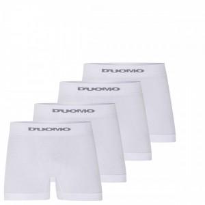 Cueca Boxer Duomo Branca Sem Costura Algodão Kit 10 Peças