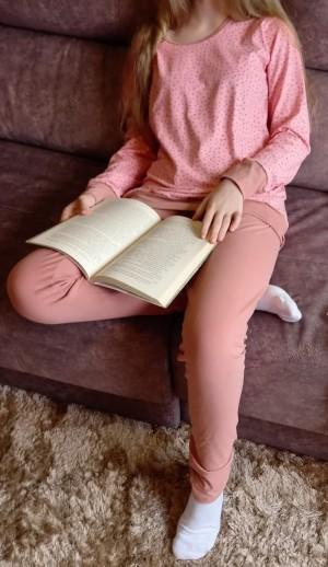 Pijama Legging Em Algodão -  Aplicação De Nuvens E Estrelas