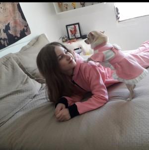 Kit Meu Pet e Eu - Macacão Adulto e Vestido Para Pet