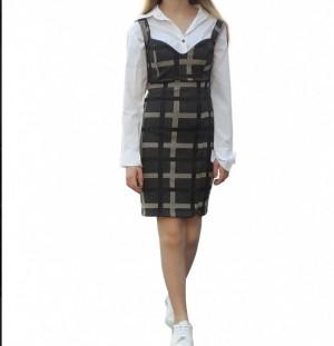 Vestido Xadrez Tecido Provence