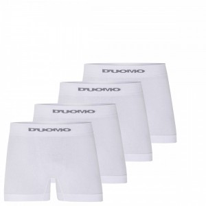 Cueca Boxer Duomo Branca Sem Costura Algodão Kit 06 Peças