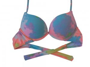 Sutiã Do Biquíni Turbo - 3d - Aumentax Push Up - Tie Dye