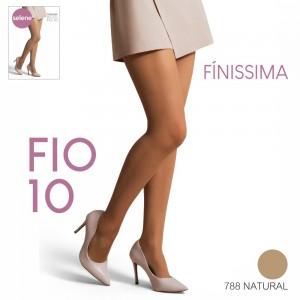Kit 2 Meia-Calça Finíssima Fio 10 Cor Natural -  Selene
