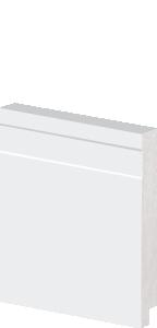 Rodapé de Poliestireno 10 cm de Altura Frisado Branco Barra de 2,40M
