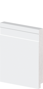 Rodapé de Poliestireno 12 cm de Altura Frisado Branco Barra de 2,40M