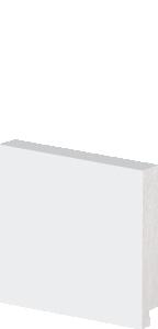 Rodapé De Poliestireno 7 cm de Altura Liso Branco Barra Com 2,40M
