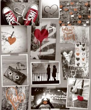 Papel de Parede Teens Ref: A10303 Coleção Kids 'N Teens