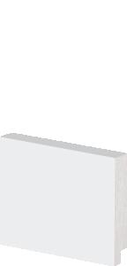 Rodapé de Poliestireno 5 cm De Altura Liso Branco Barra Com 2,40M