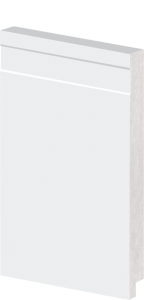 Rodapé de Poliestireno 20 cm de Altura Frisado Branco Barra de 2,40M