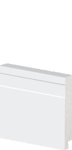 Rodapé de Poliestireno 7 cm De Altura Frisado Branco Barra de 2,40M