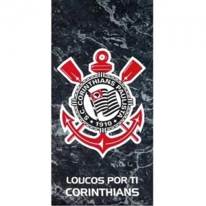 TOALHA VELOUR  Ref:PRAIA CORINTHIANS 76CMX1,52M Cor:PR/BR