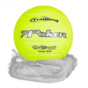 KIT POKER  Ref:BOLA VOLLEY + REDE LAZER  5700 Cor:AM