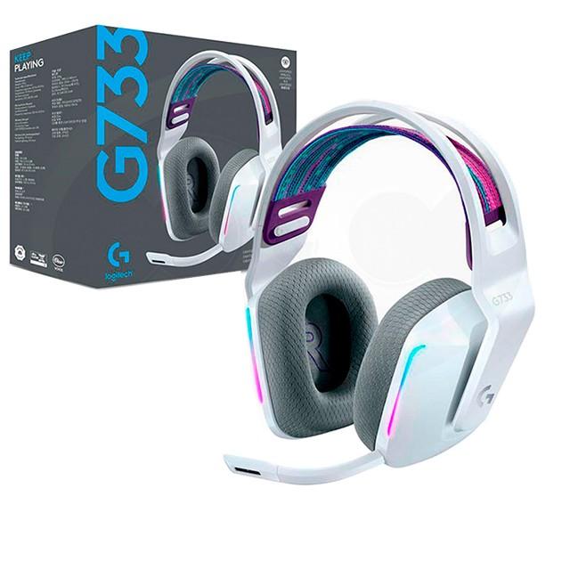Auriculares Logitech G733 Lightspeed RGB White Gaming Headset PC
