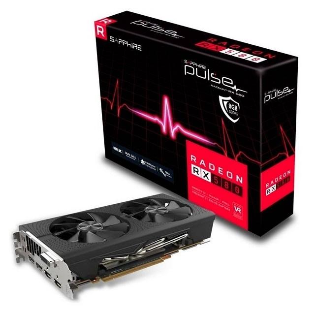 Placa de Video Sapphire Radeon RX580 Pulse 8GB GDDR5