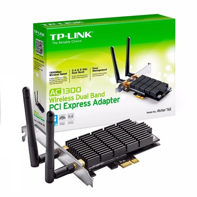 Placa de Red WiFi TP-Link Archer T6E PCIE Dual Band AC1300