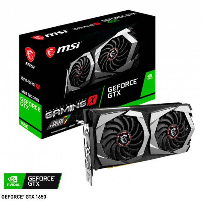 Placa de Video MSI NVIDIA GeForce GTX 1650 Gaming X 4Gb GDDR6