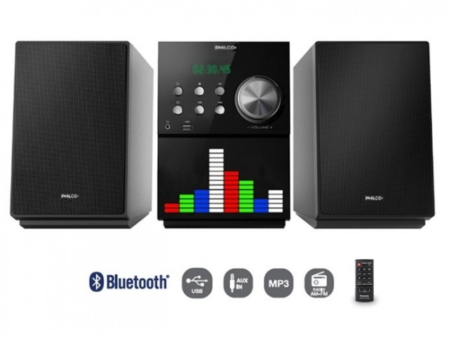 Minicomponente Philco AMP75DV C/DVD Bluetooth USB 1000 Watt