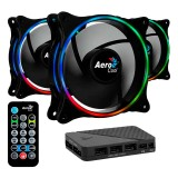 Cooler Fan KIT Aerocool Eclipse 12 PRO ARGB (3x120mm + Controladora + Control Remoto)