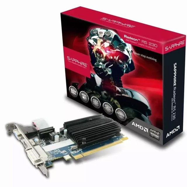 Placa de Video Sapphire Radeon R5 230 LP 1GB GDDR3