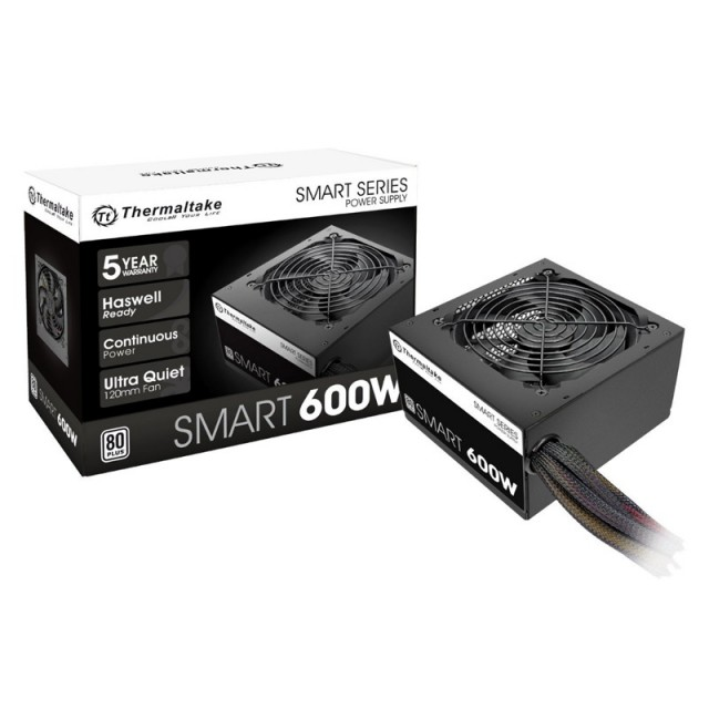 Fuente Thermaltake Smart 600W 80 Plus
