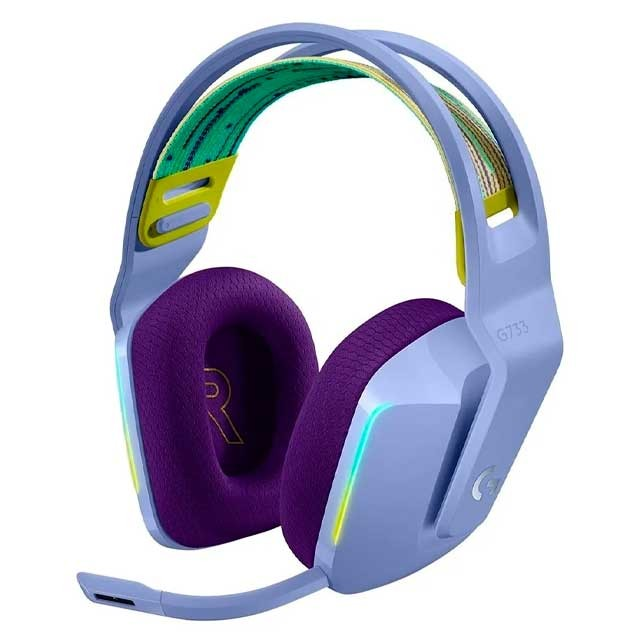 Auriculares Logitech G733 Lightspeed RGB Lila Gaming Headset PC