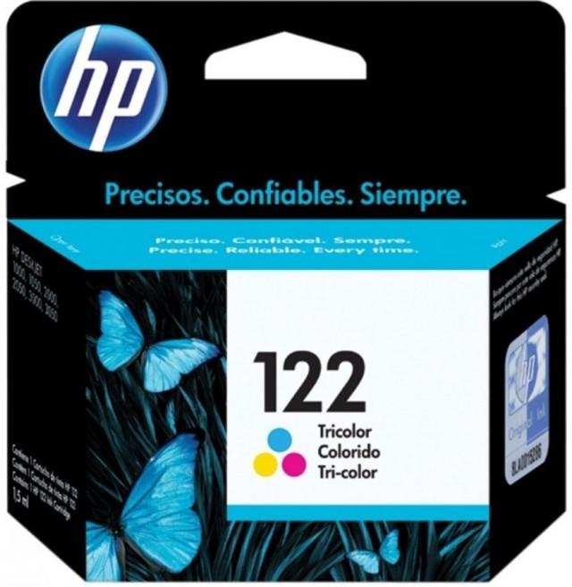 Cartucho HP 122 Tricolor CH562HL (100 Pág.)