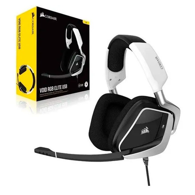 Auriculares Corsair VOID RGB Elite White Gaming Headset 7.1 USB