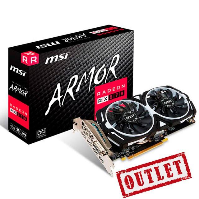 Placa de Video MSI AMD Radeon RX 570 ARMOR 8Gb GDDR5 REFURBISHED