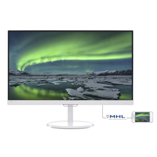 Monitor Philips LED 23 237E7QDSW IPS Blanco VGA/DVI/HDMI MHL