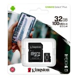 Micro SD Kingston 32GB Canvas Select 100Mb/s Clase 10