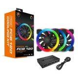 Cooler Fan KIT Cougar Vortex FCB 120 RGB (3x120mm + Controlador)