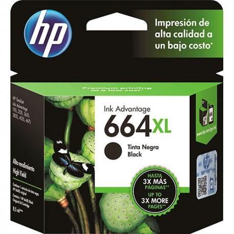 Cartucho HP 664 XL Negro Alta Capacidad