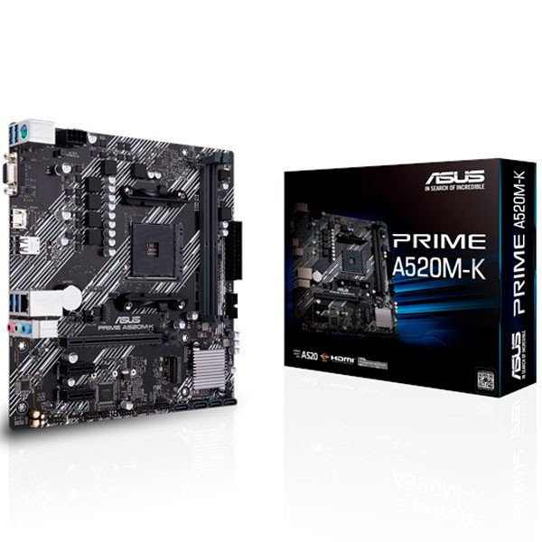 Mother ASUS PRIME A520M-K AM4 (SOLO 3ERA GEN)
