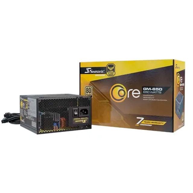 Fuente Seasonic 650W Core TUF GM-650 80 Plus Gold Semi Modular