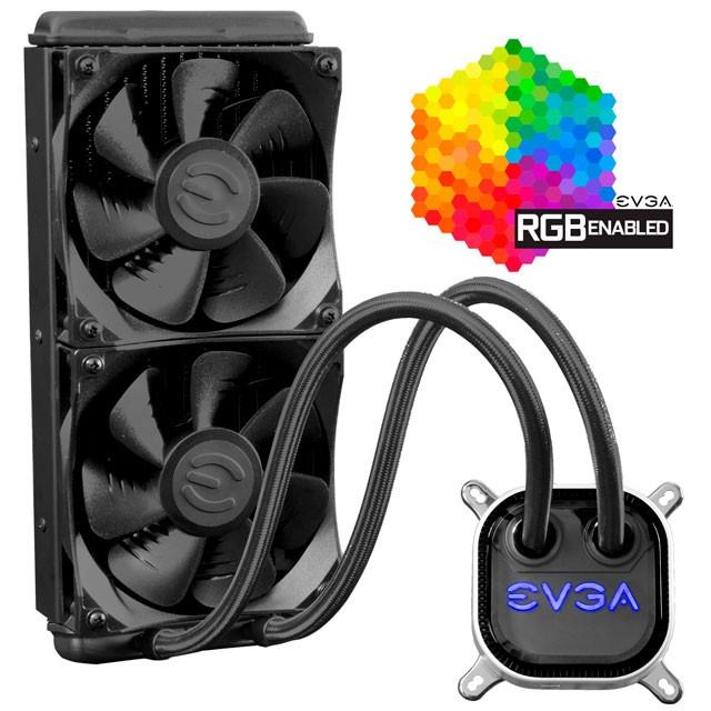 Cooler CPU Water Cooling EVGA CLC 240 RGB Intel/AMD