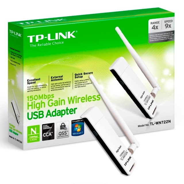 Placa de Red WiFi TP-Link WN722N USB